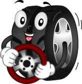 Tire Mascot — Stock Photo