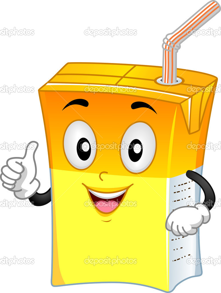Mascot Illustration Featuring an Orange Drink — Foto Stock #11570069
