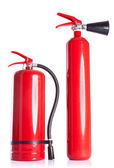 Two fire extinguishers on white — Stock Photo