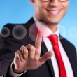 Business man making a choice — Stock Photo #11068846