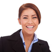 Young business woman laughing — Stock Photo