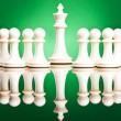 Pawns protecting  the white king — Stock Photo