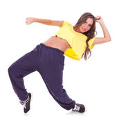 Woman dancer break dancing — Stock Photo