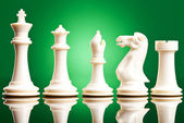 White chess pieces — Stock Photo