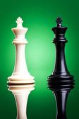 Black and white kings — Stock Photo