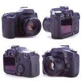 стороны профессиональный цифровой фотоаппарат — Стоковое фото