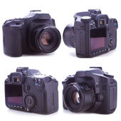 Os lados de uma câmera digital profissional — Foto Stock