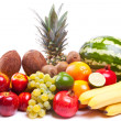 Bunch of fresh fruits - Stockfoto