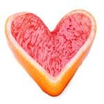 Heart of the grapefruit — Stock Photo