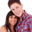 Sweet young couple smiling together — Stock Photo #12396453