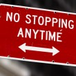 No stopping anytime road sign — Stock Photo