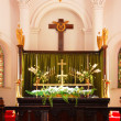 Altar in a church — Stock Photo