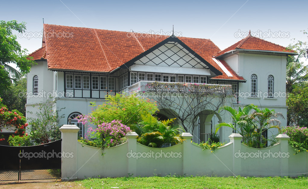 Indian bungalow stock photo yellowcrest 11574850 for Indian bungalow designs photo gallery