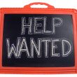 Stock Photo: Help wanted sign