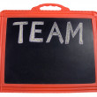 The word 'Team' on a notice board — Stock Photo