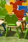 Playschool chairs — Stock Photo