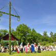 Stock Photo: Midsummer dance