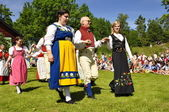 Midsummer dance — Stock Photo