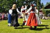 Folklore ensemble of Sweden — Stock Photo