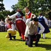 Folklore ensemble of Sweden — Stock Photo