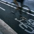 Постер, плакат: Cyclist on urban cyceway