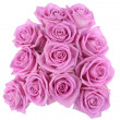 Bouquet of pink roses over white background — Stock Photo #10862261