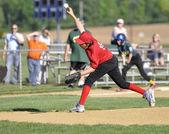 Little league pitcher — Stock Photo