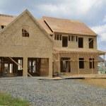 nieuw huis in aanbouw — Stockfoto