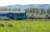 Train Speeding through Countryside — Stock Photo