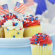 Patriotic Cupcakes — Stock Photo #10760771