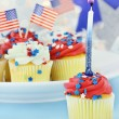Patriotic Cupcakes — Stock Photo