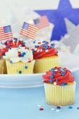 Patriotic Cupcakes — ストック写真