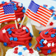 cupcakes do dia da independência — Fotografia Stock  #10992711