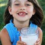 Child Drinking Milk — Stock Photo