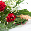 Stock Photo: Beautifully arranged bouquet of roses and white flowers