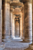 Hypostyle in Khnum temple,Egypt — Stock Photo