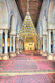 Interior of the Great Mosque in Kairouan — Stock Photo