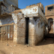 Stock Photo: Dilapidated houses of Egyptivillage