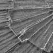 Cracked Glass Macro in Black and White — Stock Photo