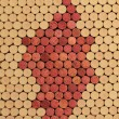 Used Wine Corks Grape Cluster Pattern for Background — Stok fotoğraf