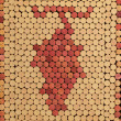 Royalty-Free Stock Photo: Used Wine Corks Grape Cluster Pattern for Background