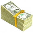 Stack of Older United States Currency Tied in a Ribbon - Fifties — Stock Photo #11643979