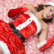 Sexy Christmas Girl — Stock Photo
