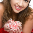 Christmas Candy Girl - Foto de Stock  