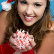 Christmas Candy Woman - Foto de Stock  