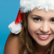 Stock Photo: Christmas Hat Girl