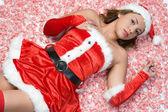 Sexy weihnachts-mädchen — Stockfoto