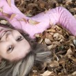 Playing in the Leaves — Stock Photo