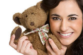 Teddy Bear Girl — Stock Photo