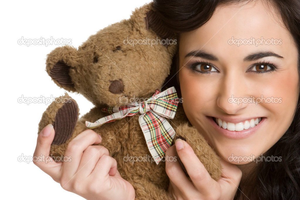 Teddy Bear Girl — Stock Photo #10977582